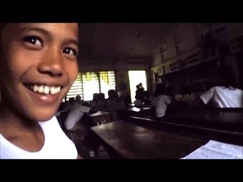 Bud Brown at Basak Elementary School, Zamboanguita