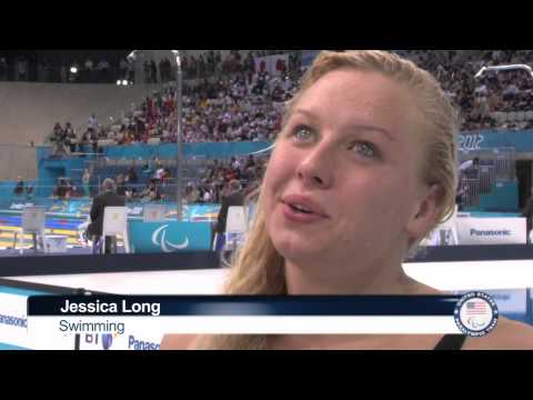 Jessica Long wins second gold medal with world record - London 2012 Paralympic Games
