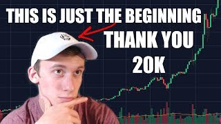 THANK YOU 20,000!!! GIVE AWAY | THIS IS JUST THE BEGINNING | Market Update