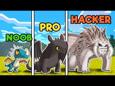 Minecraft - DRAGON CASTLE WARS! (NOOB vs PRO vs HACKER) thumbnail