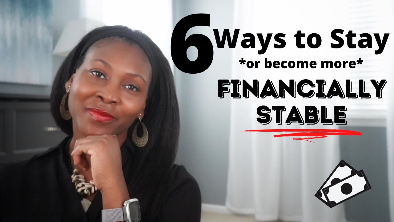 6 Ways to Stay (or become more) Financially Stable ⎟FRUGAL LIVING TIPS