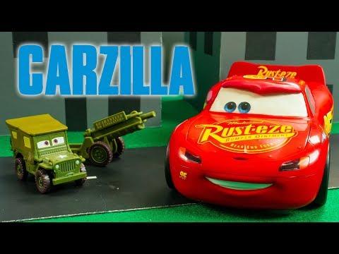 CARZILLA Jackson Storm Lightning McQueen Giant Cars Disney wheels Movie Shorts