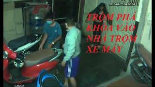 Trộm xe máy bị tóm sau khi trích xuất lại camera | Trộm xe máy 2019