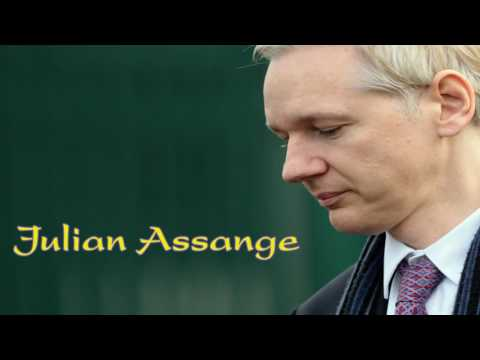 Julian Assange -   the man with top secret government documents...!