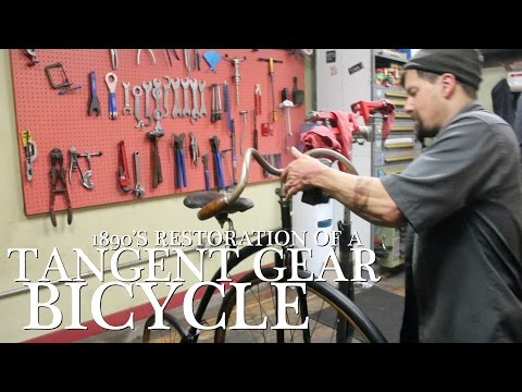 Early 1890's Tangent Geared Bicycle at The Old Spokes Home thumbnail