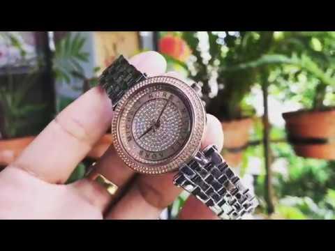 MICHAEL KORS Mini Darci Crystal Pave Dial Two Tone Ladies Watch Item No. MK3446