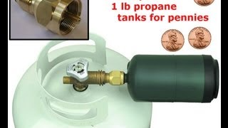 How to safely refill your empty cylinders for PENNIES. Propane refill adapter fitting.(, 2013-07-29T18:34:47.000Z)