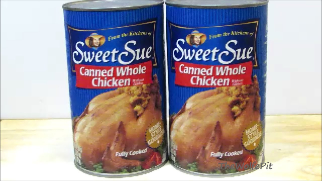 whole chicken in a can why what are we eating youtube