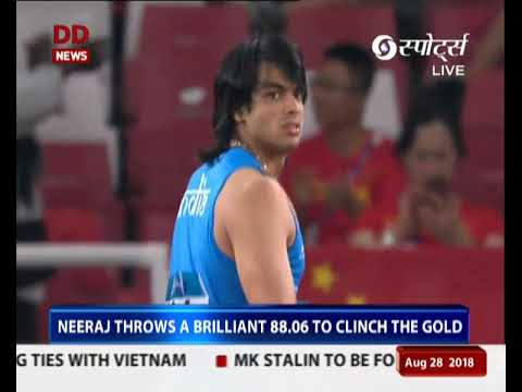 Asian Games 2018: Javelin thrower Neeraj Chopra wins Gold, makes history