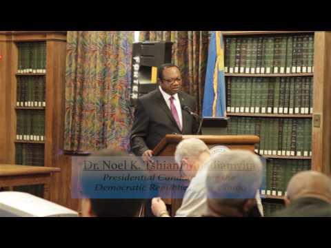 Dr. Noel Tshiani  Presentation of the Marshall Plan at Howard University
