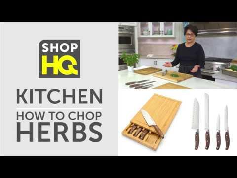 ShopHQ Kitchen | Basic Knife Skills | How To Chop Herbs