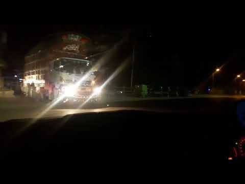 Pakistan Motorway night traveling
