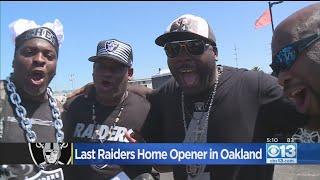 Last Raiders Home Opener In Oakland