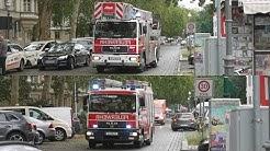 (Brandeinsatz) DLK, LHF und RTW, LHF    Feuerwache Spandau, FF Moabit und FF Spandau-Nord