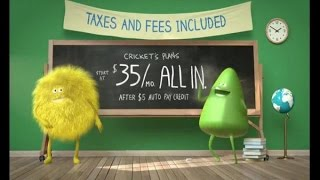 TV Commercial Spot - Cricket Wireless - Blackboard Phone Plans - It