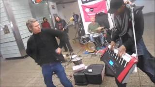 ROLLING STONES /  SUBWAY BUSKERS COVERING JUMPIN JACK FLASH / LAWRENCE RUSH & UNDEREGROUND HARMONY