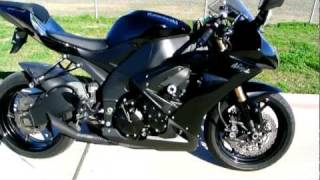 2008 Kawasaki ZX10R Ninja in Metallic Diablo Black