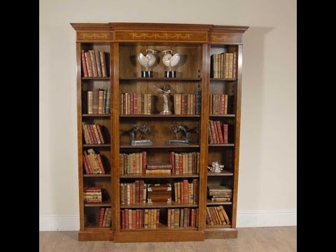 English Regency Sheraton Breakfront Bookcase
