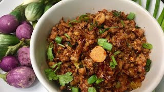 Thai food / chili stair fired pork (น้ำพริกผัดหมูโคราช)