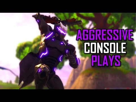 AGGRESSIVE CONSOLE PLAYS- Trypal (Fortnite Battle Royale)