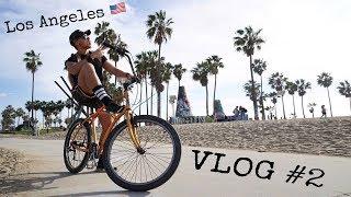 Los Angeles VLOG #2 | Venice Beach - Santa Monica Pier BIKE TOUR.