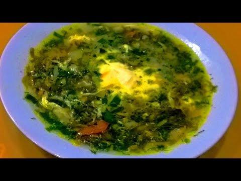 Зеленые щи с щавелем .Щавелевый суп с яйцом. Зеленый борщ.