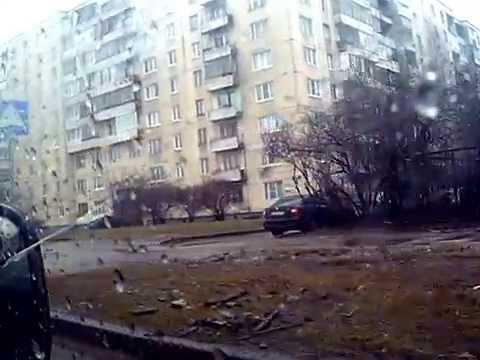 Малая Балканская улица, СПб, чётная сторона, от Карпатской до Купчино, вид в водительское окно
