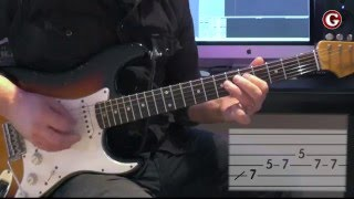 Example 2 - Easy guitar licks - A minor pentatonic lick  - Guitar Couch Lessons
