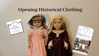 Opening Beautiful Historical Doll Clothing!