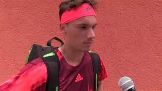 Marek Gengel po výhře v 1. kole na turnaji Futures v Ústí n. O.