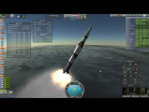 Kerbal Space Program Saturn V Apollo Ascent And TLI