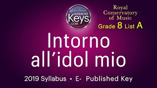 Intorno all'idol mio.  E-  Grade 8 RCM  (karaoke piano)  WITH LYRICS
