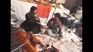 Jyoti Nooran Live Singing  At Home Jagran With Brother & Father Gulshan Meer