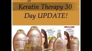 Organix Brazilian Keratin Therapy 30 Day Update on Natural Black Hair!