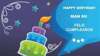 ManSu   Card Tarjeta - Happy Birthday