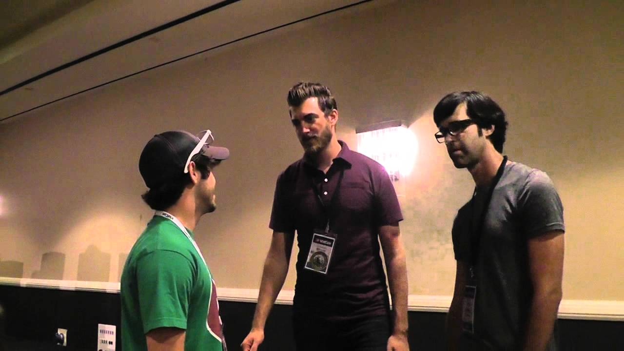 dustin has a chat with two really tall guys youtube