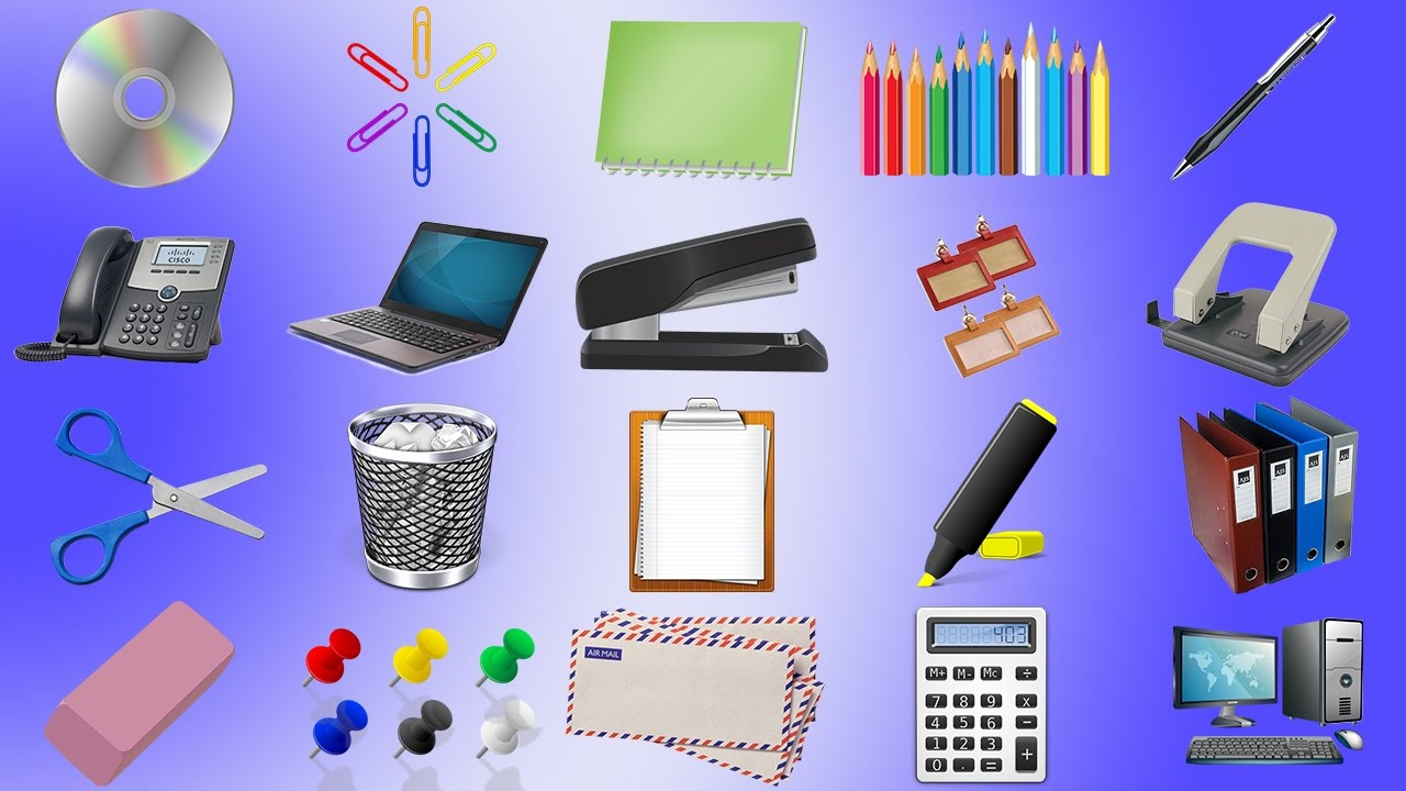 Learn Office Tools Names Educational Video For Kids