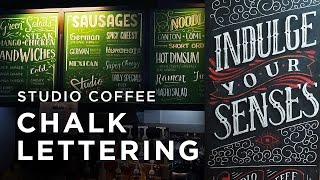 Studio Coffee Chalk Lettering x Neil Torres