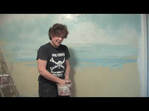 Decorative Painting Techniques : How to Paint Water on Walls
