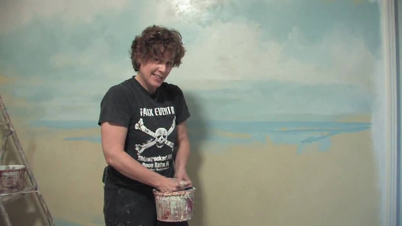 Decorative painting techniques how to paint water on walls youtube amipublicfo Gallery