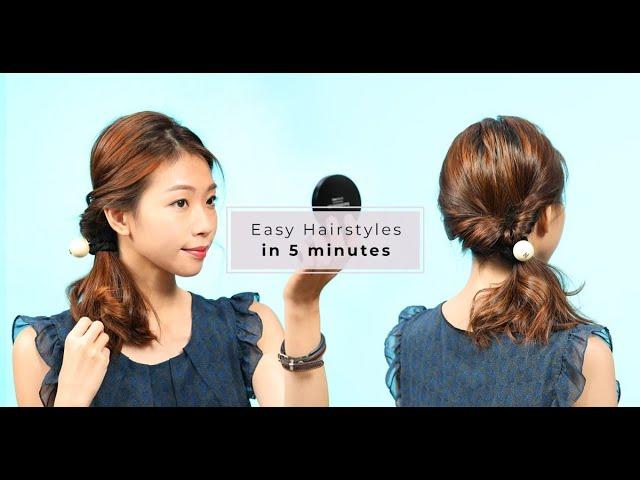 Beauty hacks:一個直髮夾、兩條髮圈,就紮出氣質滿滿的低馬尾!