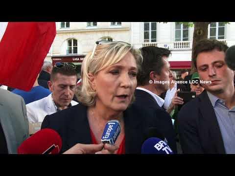 Marine Le Pen contre la politique Asile et Immigration. Paris/France - 20 Avril 2018