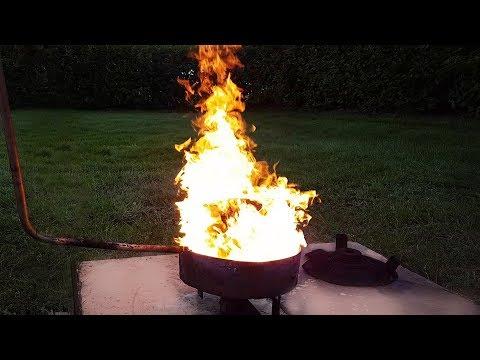 Awesome Waste Oil Burner -- Simple Homemade Design -- Easy Build