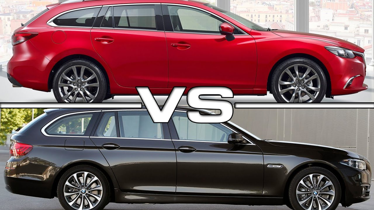 Mazda 3 Vs 6 >> Mazda 6 Wagon vs BMW 5 Series Touring - YouTube