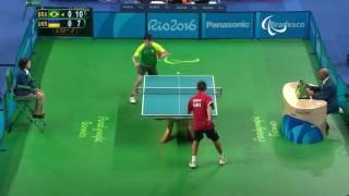 Table Tennis | Men's Singles - Class 7 Round 1 | Rio 2016 Paralympic Games thumbnail