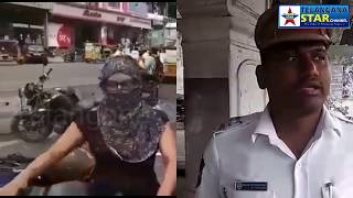 Yasmeen begum misbehaved with traffic police