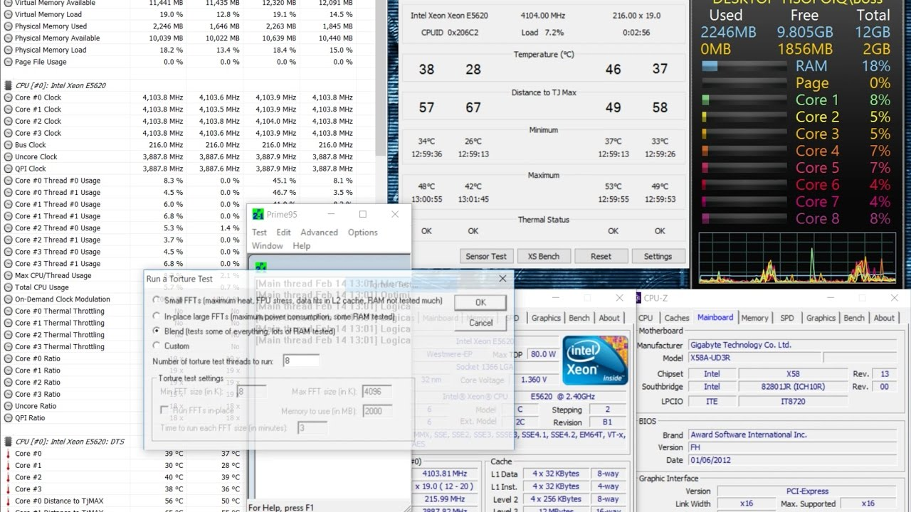 $3 25 Intel Xeon E5620 12M Overclock 4 1Ghz X58 1366 Bios Settings Windows  10