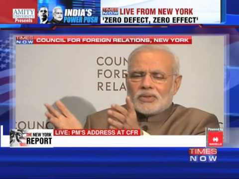 Narendra Modi addresses the Council on Foreign Relations - Full Episode