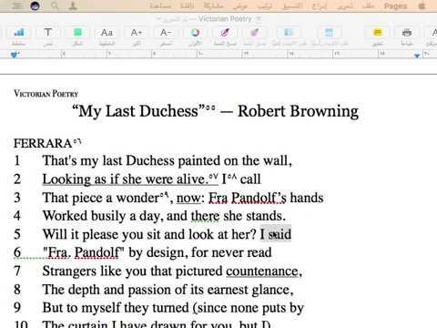 My Last Duchess - Robert Browning - Class A