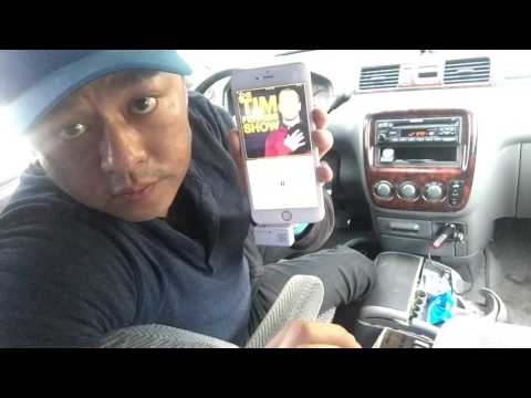 How to play podcast and music from iPhone 6 thru car stereo